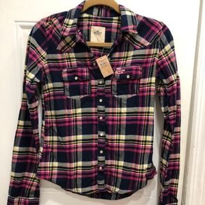Hollister Plaid Small